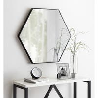 Kate and Laurel Rhodes 6-sided Hexagon Wall Mirror
