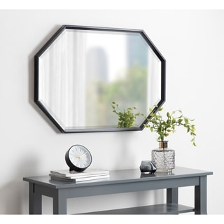 Kate and Laurel Calter Plastic-framed Elongated Octagon Wall Mirror