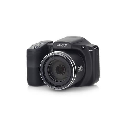 "Minolta 20 Mega Pixels High Wi-Fi Digital Camera with 35x Optical Zoom, 1080p HD Video, 3"" LCD, and 8GB SD (Black)"