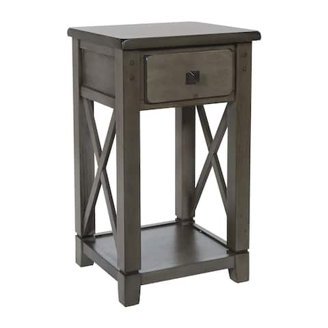 Hillsboro Side Table in Grey Wash Finish