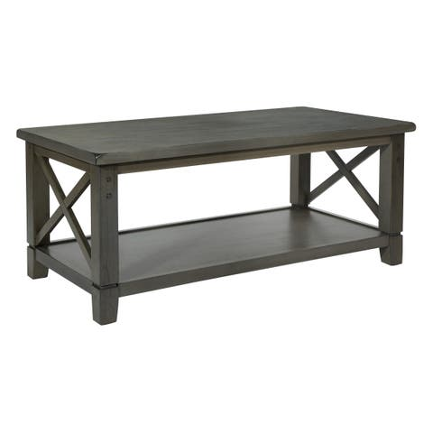 OSP Home Furnishings Hillsboro Coffee Table in Grey Wash