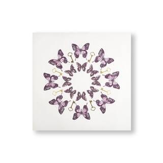 Blissful Butterflies Canvas Wall Art - Purple