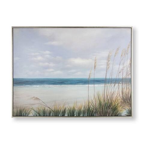Coastal Shores Framed Canvas Wall Art - Blue