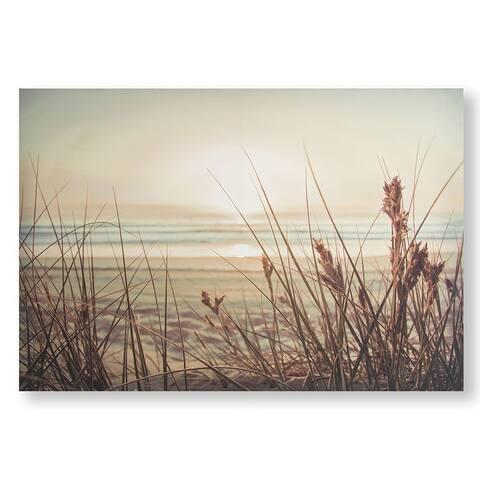 Sunset Sands Canvas Wall Art - Beige/Blue
