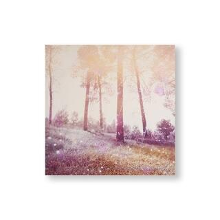Meadow Daydream Canvas Wall Art - Pink/Purple