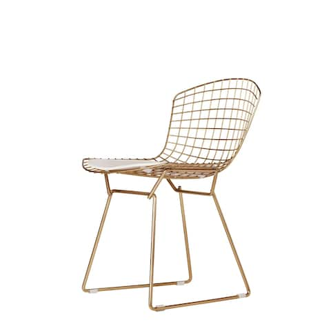 Bertoia Style Chair in Champagne Gold