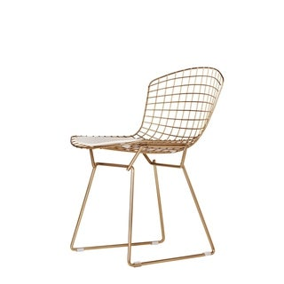 Link to Bertoia Style Chair in Champagne Gold Similar Items in Dining Room & Bar Furniture