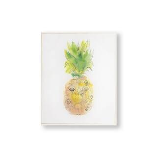Pineapple Tropics Canvas Wall Art - Yellow/Orange