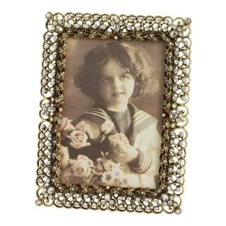 Saro Lifestyle Goldtone Bejeweled Photo Frame