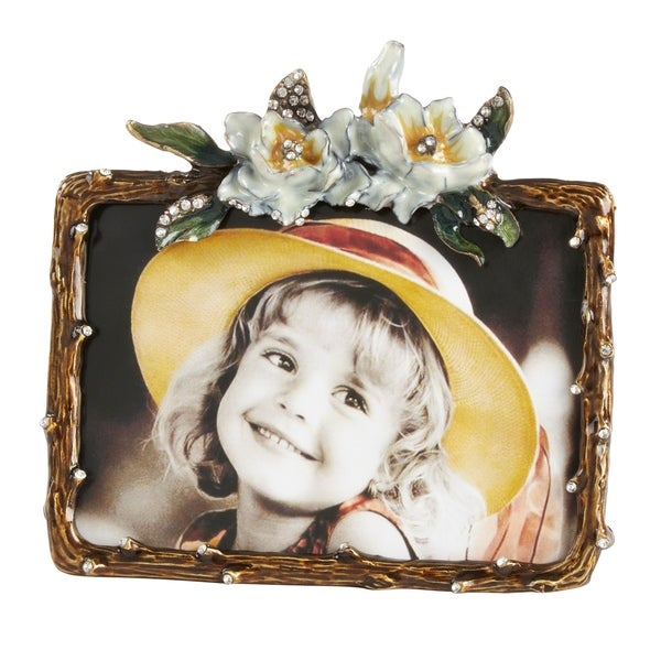 Saro Lifestyle Floral Design Landscape Photo Frame