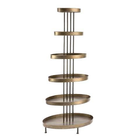 6 Tier Oval Display Tower Shelf
