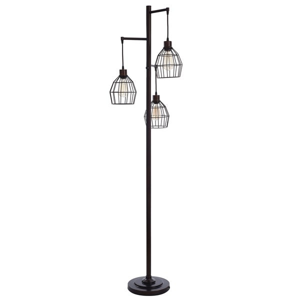 Shop 3-light Caged Wire Pendant Floor Lamp
