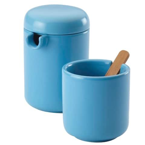 BonJour Ceramic Coffee and Tea Sugar and Creamer Set