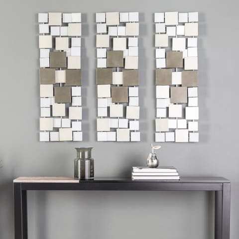 Holly & Martin Wavson Geometric Metal Wall Decor (Set of 3)