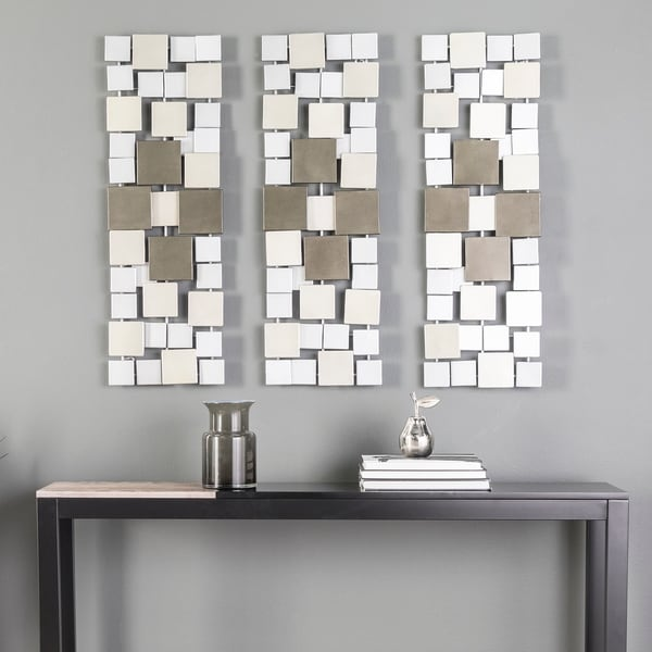 Holly & Martin Wavson Contemporary Metal Wall Sculptures (Set of 3)