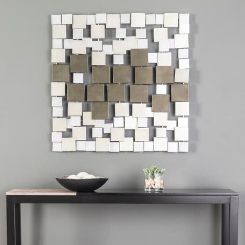 Holly & Martin Wavson Contemporary Square Metal Wall Sculpture