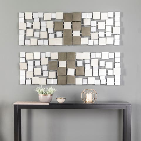 Holly & Martin Wavson Geometric Metal Wall Decor (Set of 2)
