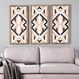 Harper Blvd Iverna Eclectic Decorative Wooden Wall Panels (Set of 3)