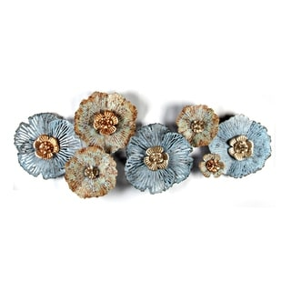 Carbon Loft Multi-color Metal Distressed Flower Wall Art