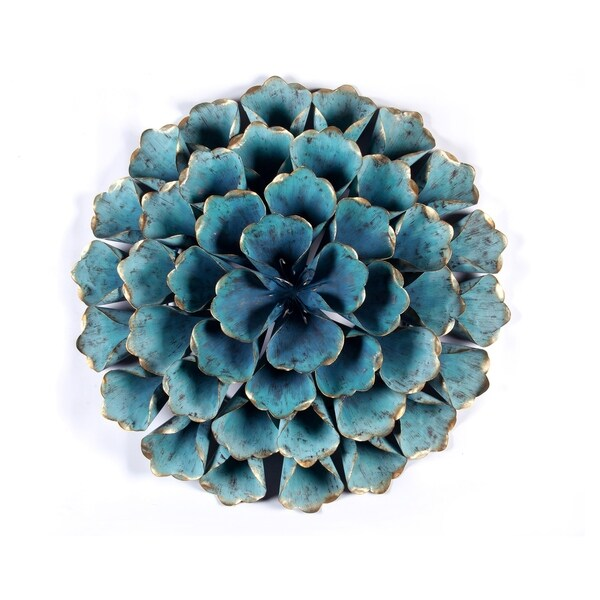 Carson Carrington Mjugg Teal Metal Flower Wall Art. Opens flyout.