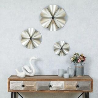 Silver Flower Wall Decor (Set of 3)