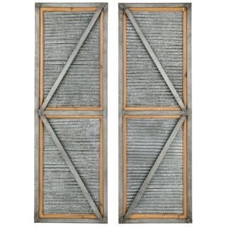 Rustic Window Shutters - Set of 2