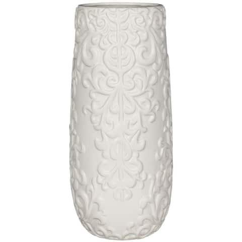 White Filigree Vase