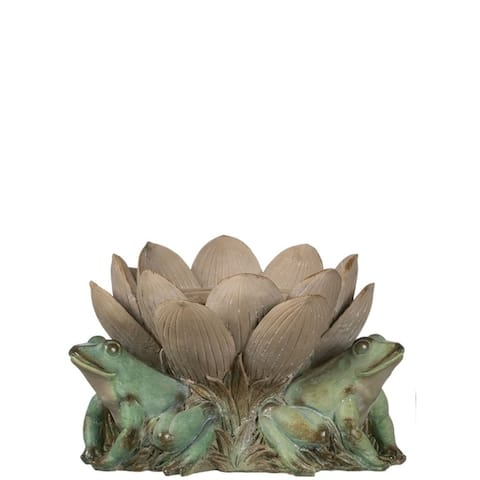 Lotus with Frogs Vase