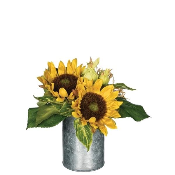 "Rustic Sunflowers Premade Arrangement - Yellow - 9""L x 9""W x 9""H"