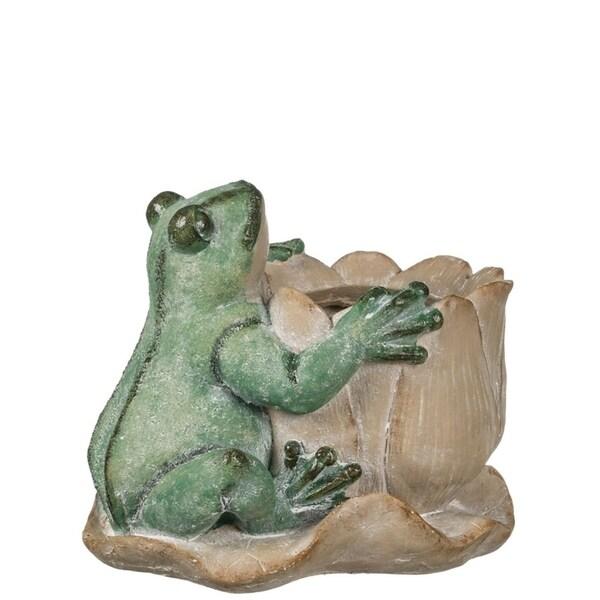 """Frog & Lotus Planter - 12""""L x 11""""W x 10""""H"""