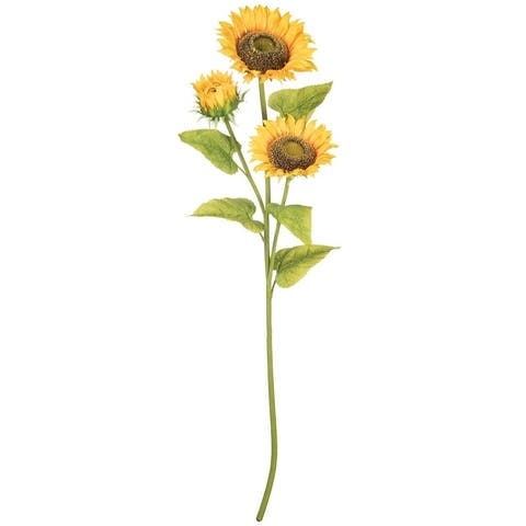 3 Bloom Sunflower Stem