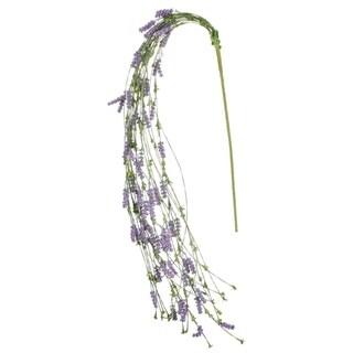 """Purple Hanging Berry Stem - 11""""L x 8""""W x 32""""H"""