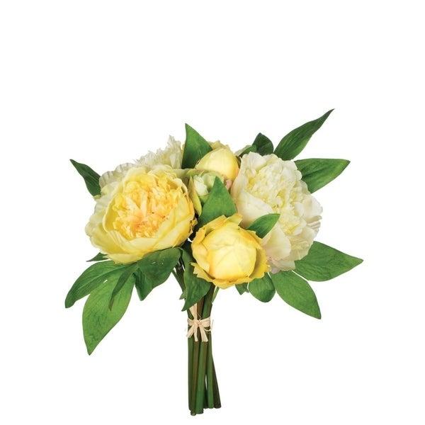 Yellow & Cream Peony Bouquet