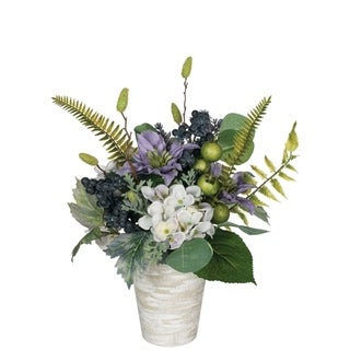Potted Hydrangea, Clematis & Lavender