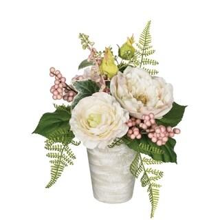 Potted Peony, Hydrangea & Ranunculus