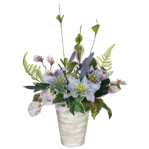 Potted Clematis, Sweet Pea & Lavender