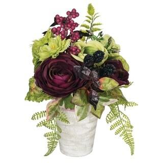 Potted Ranunculus, Dahlia & Berry