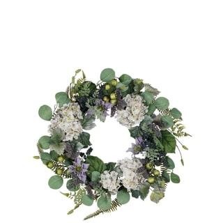 Hydrangea, Clematis, & Lavender Wreath