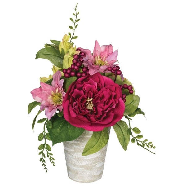 Potted Peony, Clematis & Hydrangea