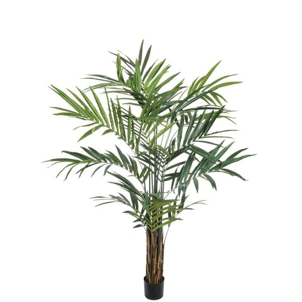 9'h Potted Palm Tree - Green - 6'L x 5'W x 9'H. Opens flyout.