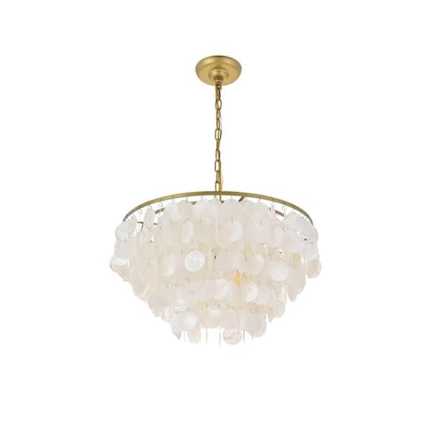 Selene 4 light Brass Pendant