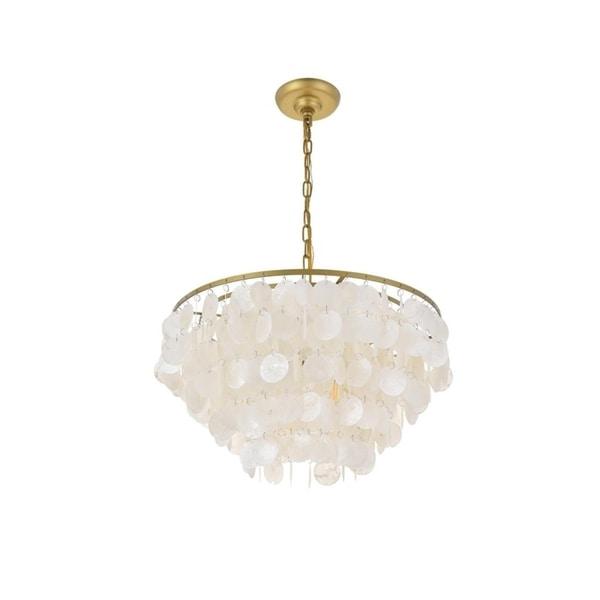 Selene 4 light Brass Pendant. Opens flyout.