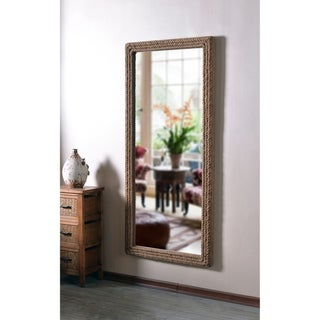 "Lash Natural Rope 67-inch Height Rectangular Floor Mirror - 67"" x 30"""