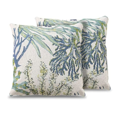 Kotter Home Coral Reef Throw Pillow - Set of 2