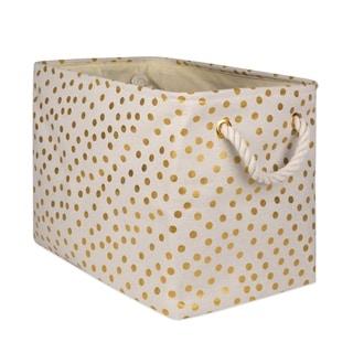 DII Golden Patterned Decorative Storage Bin