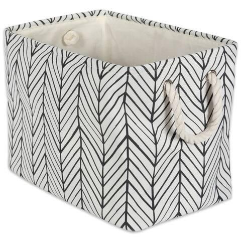 DII Herringbone Decorative Storage Bin