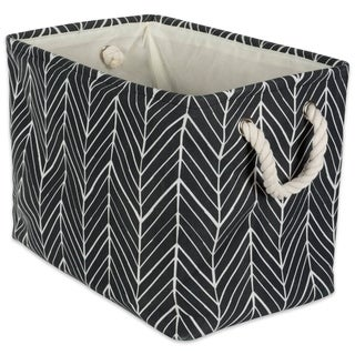 DII Herringbone Decorative Storage Bin