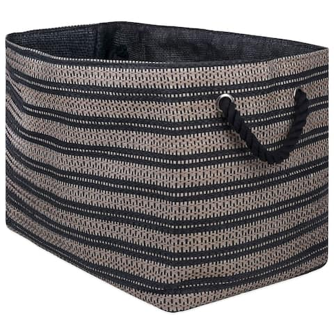 DII Basketweave Decorative Storage Bin