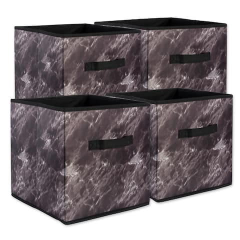 DII Decorative Marble Laundry Cubes (Set of 4)