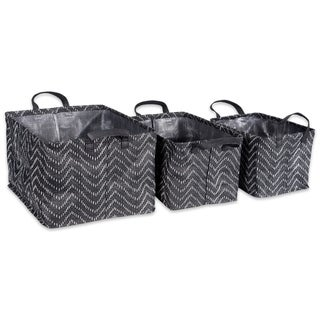 DII Assorted Coated Tribal Chevron Laundry Bins (Set of 3)